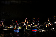 BOSTON, MASSACHUSETTS - OCTOBER 20: (Editors Note: Image was created using multiple exposure in camera) The PNRA/Mercer team competes in the Women's Youth Fours division during the 55th Head of the Charles Regatta on October 20, 2019 in Boston, Massachusetts. (Photo by Maddie Meyer/Getty Images)