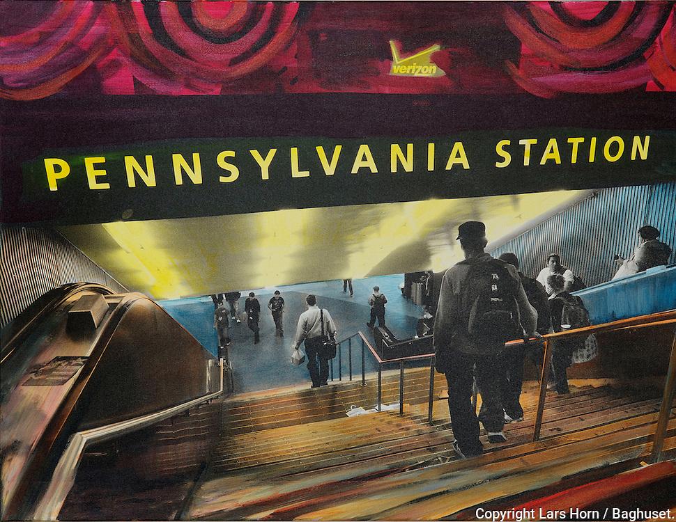 NYC in Colors.  Horn/Andersen<br /> Pen Station100x130 Kr.   14.000,-<br /> Foto: © Lars Horn / Baghuset<br /> Date : 15.07.13