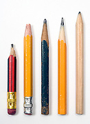 various wooden pencils next to each other