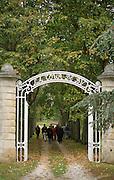 The gate leading to the vineyards. Chateau la Tour de By, Medoc, Bordeaux, France