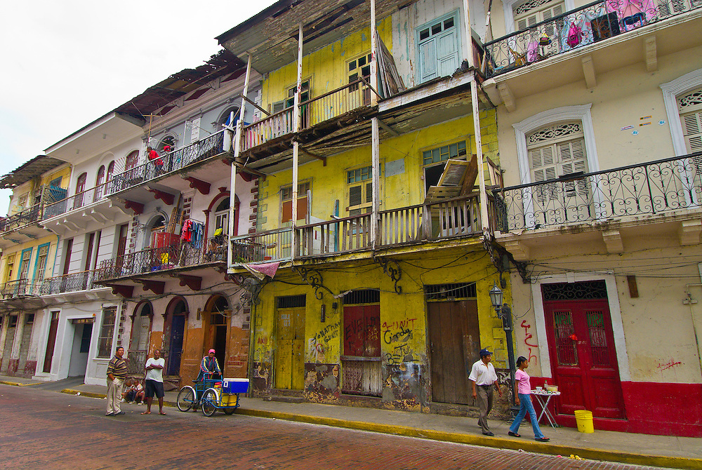 Street scene on Calle de San Joseph, Casco Viejo (Old City), San Felipe district, Panama City, Panama
