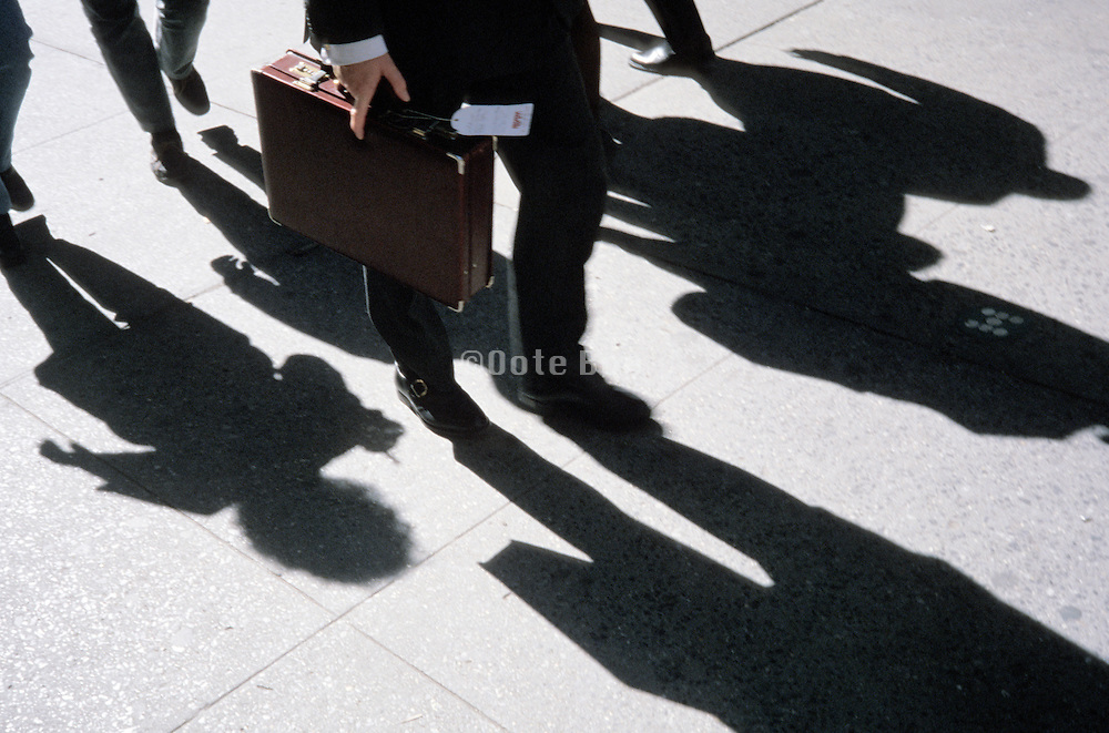 group of business people on there way to a meeting