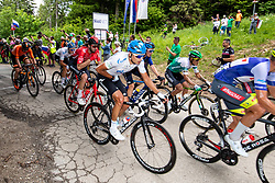 Dmitrii STRAKHOV of GAZPROM – RUSVELO and peloton at the top of the climb Lipa during 2nd Stage of 27th Tour of Slovenia 2021 cycling race between Zalec and Celje (147 km), on June 10, 2021 in Slovenia. Photo by Matic Klansek Velej / Sportida