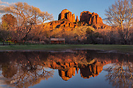 Cathedral Rock, sunset, Crescent Moon State Park, Sedona, Arizona,
