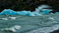 Glacial Ice on Lago Grey. Image taken with a Nikon D3s camera and 24-120 mm f/4 lens (ISO 200, 120 mm, f/4, 1/2000 sec).