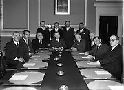 William Norton (3rd from left) Tanaiste and Minister for Industry and Commerce at Irish Ropes Ltd..03/06/1954. Liam Cosgrave,