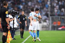 September 16, 2018 - Marseille, France - 26 FLORIAN THAUVIN (OM) - 02 HIROKI SAKAI (OM) - JOIE (Credit Image: © Panoramic via ZUMA Press)