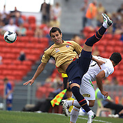 Labinot Haliti in action during the Newcastle Jets V North Queensland Fury  A-League match at Energy Australia Stadium, Newcastle, Australia, 20 December 2009. Photo Tim Clayton