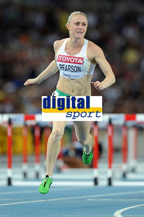 ATHLETICS - IAAF WORLD CHAMPIONSHIPS 2011 - DAEGU (KOR) - DAY 8 - 03/09/2011 - 100M HURDLES FINAL - SALLY PEARSON (AUS) / WINNER - PHOTO : FRANCK FAUGERE / KMSP / DPPI