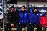 Olivier Saragaglia / Arnaud Genty / Mickaël Diaferia - 21.01.2015 - Boulogne / Grenoble - Coupe de France<br />Photo : Philippe le Brech / Icon Sport