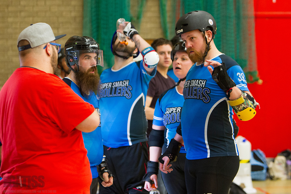 Super Smash Brollers take on Manneken Beasts at the 2018 MRDA European Qualifiers, North Bridge Leisure Centre, Halifax, United Kingdom, 2018-08-19