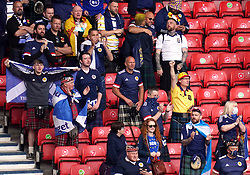 Scotland fans in the stands during the UEFA Euro 2020 Group D match at Hampden Park, Glasgow. Picture date: Monday June 14, 2021.