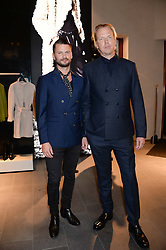 Left to right, DAVID THUNMARKER CEO Tiger of Sweden and PER HAKANS Marketing Director Tiger of Sweden at the opening of the Tiger of Sweden Store, 210 Piccadilly, London on 3rd October 2013.