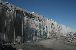 A view of the wall of separation near the Qalandya check point in the west bank of Palestine. From a series of photos commissioned by  British NGO, Medical Aid for Palestinians (MAP).