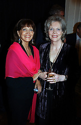 Left to right, actress GAYLE HUNNICUTT one of David Hemmings former wives and CHARLOTTE JOHNSTONE at a party to celebrate the publication of 'Blow Up' - a biography of the late actor David Hemmimgs, held at the Institute of Contemporary Arts, The Mall, London on 27th September 2004.<br />