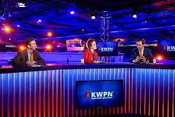 Dekker Charlotte, Versteeg Wim, De Backer Frederik<br /> KWPN Hengstenkeuring 2021<br /> © Hippo Foto - Dirk Caremans<br />  05/02/2021