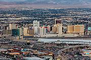Aerial view Downtown Las Vegas, Nevada, USA