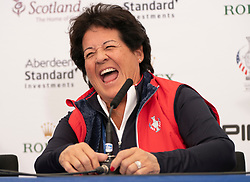 Auchterarder, Scotland, UK. 10 September 2019. Press conference by team at Gleneagles. Pictured Nancy Lopez of team USA. Iain Masterton/Alamy Live News