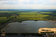 Nederland, Utrecht, Woerden, 03-05-2011; zandwindplas A12 . Sand extraction in the Green Heart of the Netherlands. .luchtfoto (toeslag), aerial photo (additional fee required).copyright foto/photo Siebe Swart