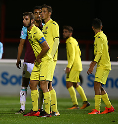 October 4, 2017 - Dagenham, England, United Kingdom - L-R Ramon Bueno and Pau Franciso Torres of Villarreal Under 23s during Premier League International Cup match between West Ham United Under 23s and Villarreal Under 23s at Dagenham and.Redbridge Football Club  Chigwell Construction Stadium, Dagenham,  England on 04 Oct 2017. (Credit Image: © Kieran Galvin/NurPhoto via ZUMA Press)