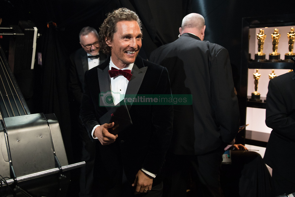 March 4, 2018 - Hollywood, California, U.S. - MATTHEW MCCONAUGHEY backstage during the live ABC Telecast of The 90th Oscars at the Dolby Theatre in Hollywood. (Credit Image: ? Matt Sayles/AMPAS via ZUMA Wire/ZUMAPRESS.com)