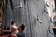 Dubai, UAE, 12 feb 2010, Dubai Mall Waterfall. PHOTO © Christophe Vander Eecken