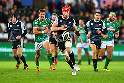 Sam Cross of Ospreys in action during todays match<br /> <br /> Photographer Craig Thomas/Replay Images<br /> <br /> Guinness PRO14 Round 4 - Ospreys v Benetton Treviso - Saturday 22nd September 2018 - Liberty Stadium - Swansea<br /> <br /> World Copyright © Replay Images . All rights reserved. info@replayimages.co.uk - http://replayimages.co.uk