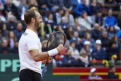 April 7, 2018 - Valencia, Valencia, Spain - during day two of the Davis Cup World Group Quarter Finals match between Spain and Germany at Plaza de Toros de Valencia on April 7, 2018 in Valencia, Spain  (Credit Image: © David Aliaga/NurPhoto via ZUMA Press)