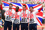 Winning Bronze Medalist Team from Beijing during the Muller Anniversary Games at the London Stadium, London, England on 9 July 2017. Photo by Jon Bromley.