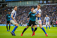 Hal Robson-Kanu (Capt) (West Brom) & Dan Burn (Brighton) during the FA Cup fourth round match between Brighton and Hove Albion and West Bromwich Albion at the American Express Community Stadium, Brighton and Hove, England on 26 January 2019.