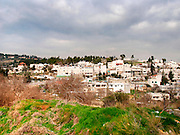 Israel, Abu Ghosh, an Israeli Arab village west of Jerusalem in the Mateh Yehudah Regional councils in the Judean Mountains A general view of the village