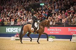 Pinto Daniel, (POR), Santurion de Massa<br /> Grand Prix Freestyle <br /> Reem Acra FEI World Cup Dressage <br /> London International Horse Show<br /> © Hippo Foto - Jon Stroud
