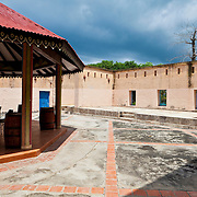 Courtyard of the old fort/prison on Prisoner island. This island has held prisoners, slaves, the sick, now tourists. It is really a nice retreat area.