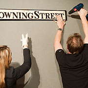 """London January 14th A 19th Century Cast iron Downing Street .sign  will go under the hammer on the annual Bonham's Gentlemen's Library Sale on January 20th..***Agreed Fee's Apply To All Image Use***.Marco Secchi /Xianpix. tel +44 (0) 771 7298571. e-mail ms@msecchi.com .www.marcosecchi.com A 19th-century """"Downing Street"""" sign was withdrawn from a London auction taking place today after doubts were raised that it had come from the most famous address in U.K. politics. <br /> The cast-iron plate had been expected to fetch as much as 6,000 pounds ($10,000) at Bonhams's """"Gentleman's Library"""" sale. It was thought to have been one of a number of road signs sold off by Westminster City Council in the 1980s, said the auction house.<br /> <br /> Five days ago, Cambridge City Council informed Bonhams that a Downing Street sign had been stolen two years ago, Julian Roup, head of the company's press office, said today.<br /> <br /> Downing Street is situated in the center of Cambridge between Trumpington Street and St. Andrews Street."""