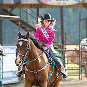 Darby Rodeo Lil Miss contestant at the Darby Rodeo Association Elite Bull Connection event July 5th 2019.  Photo by Josh Homer/Burning Ember Photography.  Photo credit must be given on all uses.