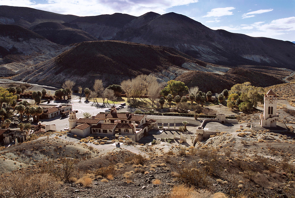 Scotty's Castle, a one-time ranch is now a tourist attraction in Death Valley National Monument California. USA.