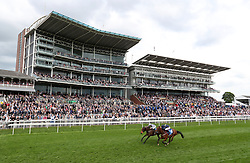 Fashion Queen ridden by Daniel Tudhope wins the British Stallion Studs EBF Westow Stakes ahead of Brian The Snail ridden by William Buick during day one of the Dante Festival at York Racecourse. PRESS ASSOCIATION Photo. PRESS ASSOCIATION Photo. Picture date: Wednesday May 17, 2017. See PA story RACING York. Photo credit should read: Mike Egerton/PA Wire