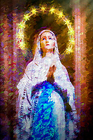 """Our Lady of Lourdes - Santa Maria dei Miracoli Rome - Painting by Dino Carbetta""…<br />