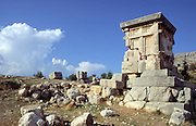 Harpy tomb at the ancient Lycian city of Xanthos, Turkey