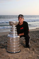 17 June 2007: BARRY DAMESHEK.. Portrait of family, friends and hockey players on the sand in Newport Beach, CA on Fathers Day with the NHL Stanley Cup for the Hockey News courtesy of the Hockey Hall of Fame.  PERSONAL USE ONLY!!!!!!!