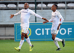 Cape Town-180224Wits player Lehlohonolo Majoro celebrating after scoring twice in their PSL game in Athlone against Cape Town City  Picture Ayanda Ndamane/African News Agency/ANA