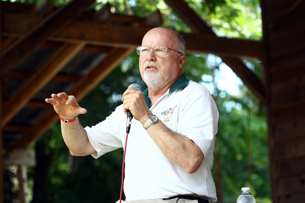 Richard Rohr speaks on the main stage at the Wild Goose Festival at Shakori Hills in North Carolina June 24, 2011.  (Photo by Courtney Perry)