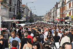 Green Lanes food festival crowd, Haringey London UK