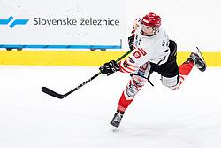 Nejc Stojan of HDD SIJ Acroni Jesenice during ice hockey match between HK SZ Olimpija and HDD SIJ Acroni Jesenice in fifth game of Final at Slovenian National League, on May 10, 2021 in Hala Tivoli, Ljubljana, Slovenia. Photo by Matic Klansek Velej / Sportida