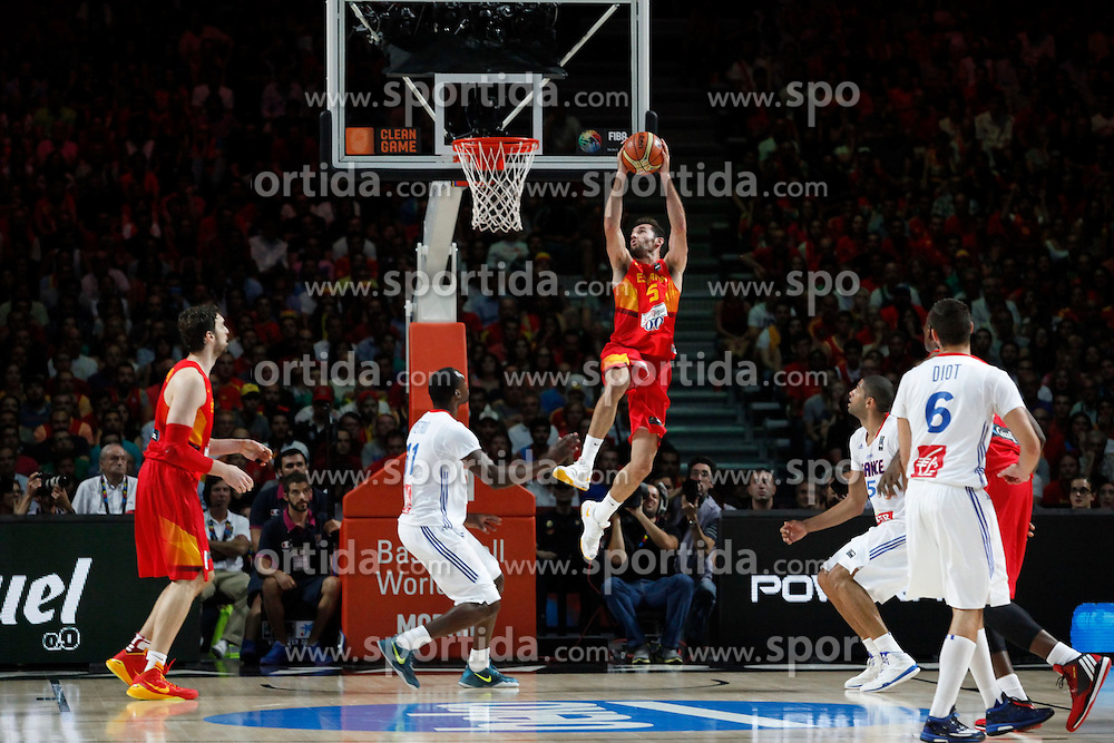 10.09.2014, Palacio de los deportes, Madrid, ESP, FIBA WM, Frankreich vs Spanien, Viertelfinale, im Bild Spain´s Rudy Fernandez // during FIBA Basketball World Cup Spain 2014 Quarter-Final match between France and Spain at the Palacio de los deportes in Madrid, Spain on 2014/09/10. EXPA Pictures © 2014, PhotoCredit: EXPA/ Alterphotos/ Victor Blanco<br /> <br /> *****ATTENTION - OUT of ESP, SUI*****