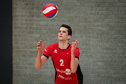 Lucas Vroom of VCN in action during the league match ComputerPlan VCN - RECO ZVH on January 16, 2021 in Capelle aan de IJssel.
