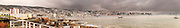 Panoramical view of south american port of Valparaiso