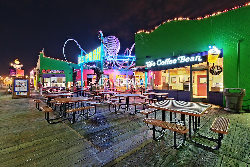 Coffee Bean and Pacific Park | An Evening at Santa Monica Pier, Los Angeles, California, USA