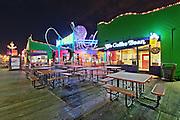 Coffee Bean and Pacific Park   An Evening at Santa Monica Pier, Los Angeles, California, USA