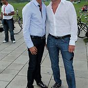 NLD/Amsterdam/20080725 - Modeshow Monique Collignon tijdens de AIFW 2008, Christiaan Looman en partner